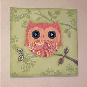 owl wall canvas